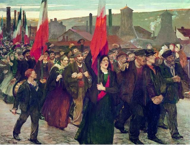 La grève du Creusot 1899, par Jules Adler