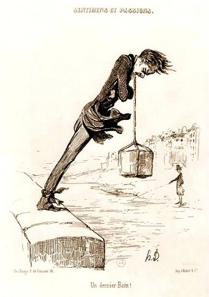 Intellectuel suicidaire Honoré Daumier