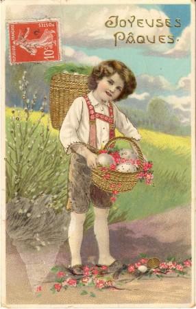 Joyeuses Pâques carte ancienne