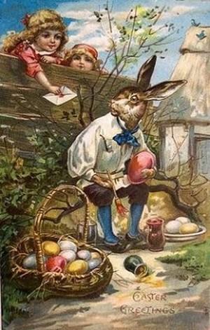Pâques lapin œufs