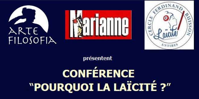 Pourquoi laïcité conférence Antibes octobre 2016