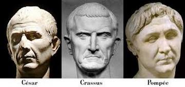 Triumvirat César Crassus Pompée
