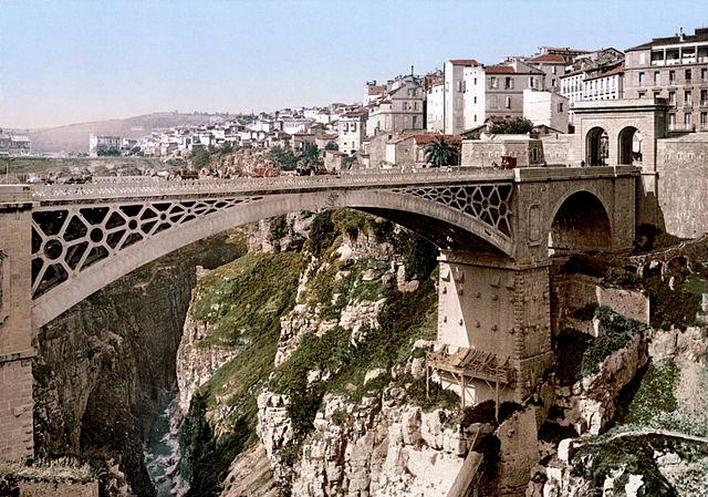 Constantine Algérie pont El Kantara 1860