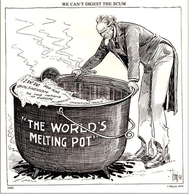 Melting Pot caricature