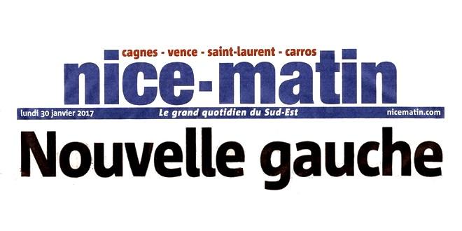 Nice-Matin 30 janvier 2017 Benoît Hamon