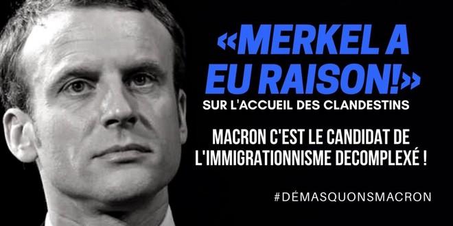 Macron Merkel immigrationnisme