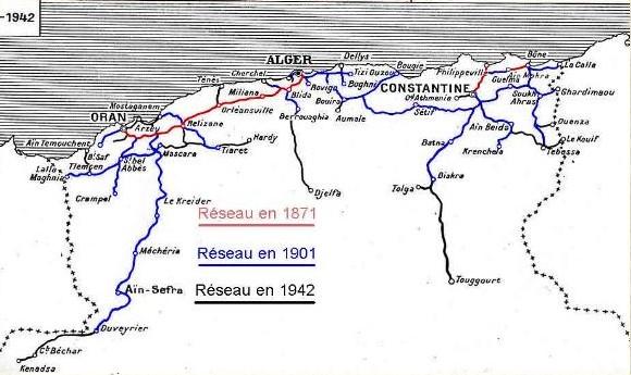 Voies ferrées Algérie française