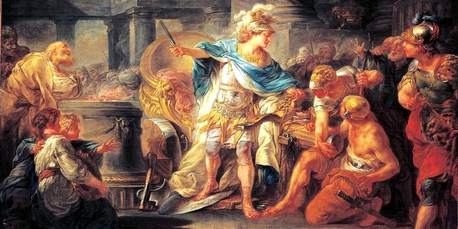Alexandre tranchant nœud gordien Berthélémy