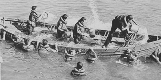 Écopage barque coule