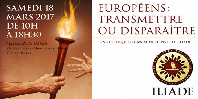 Iliade Européens Transmettre Disparaitre 2017