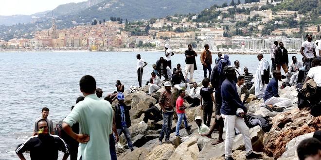 Menton immigrés clandestins migrants