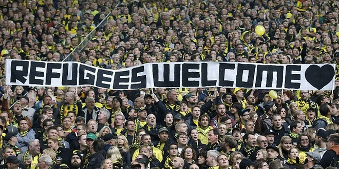 Welcome Refugees stade Dortmund