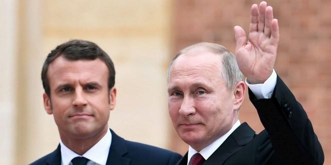 Emmanuel Macron Vladimir Poutine Versailles 29 mai 2017