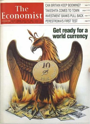 The Economist Get ready world currency by 2018 (janvier 1988)