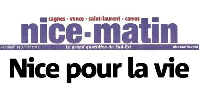 Nice-Matin 14 juillet 2017 Une