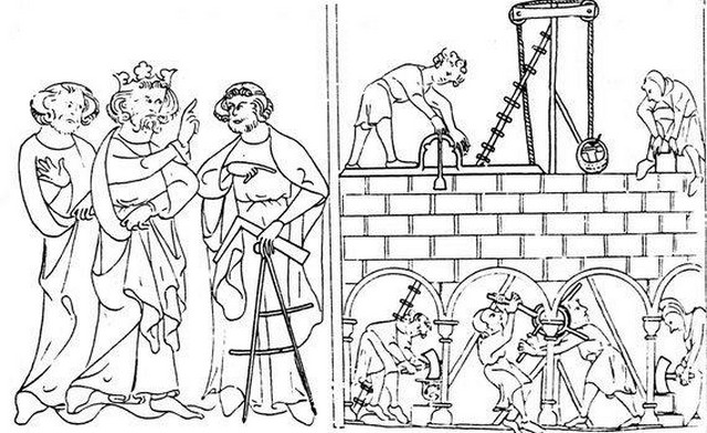 Architecte et Roi image médiévale