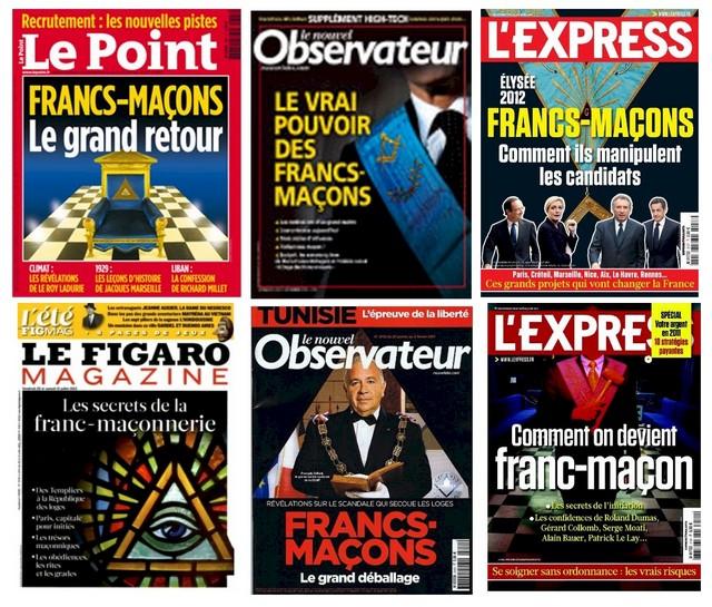 Couverture magazines Francs-maçons