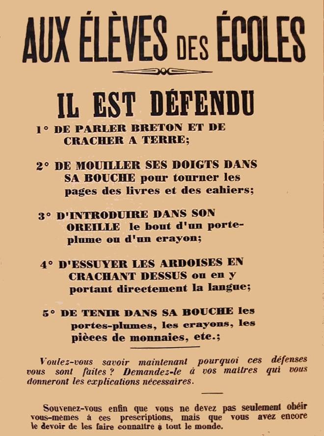 Défense cracher parler breton