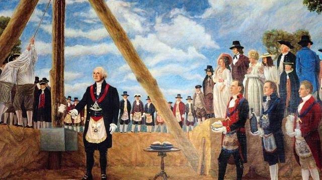 George Washington première pierre Maison Blanche