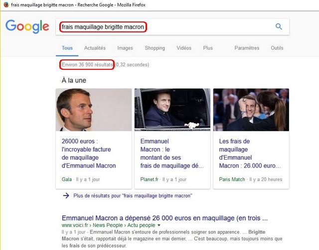 Google frais maquillage Brigitte Macron