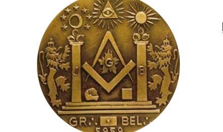 Médaille symboles maçonniques
