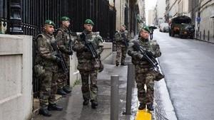 Opération Sentinelle bérets verts Paris