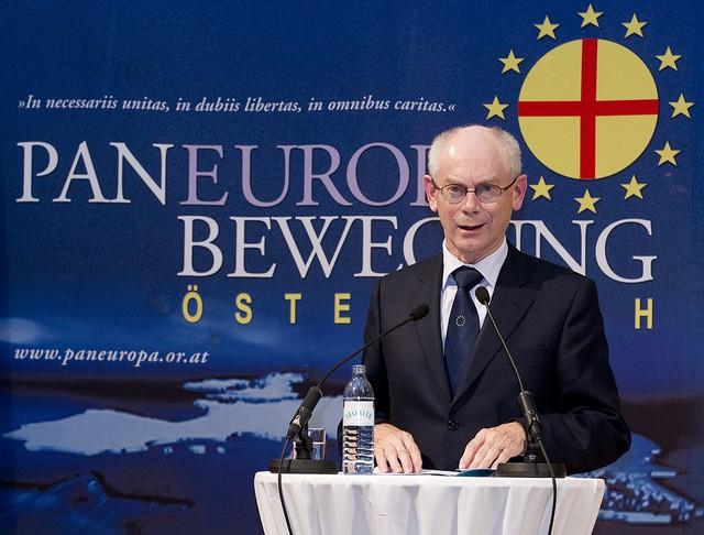 Herman Van Rompuy pan-europäische Bewegung