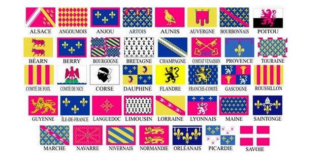 Blasons Provinces France