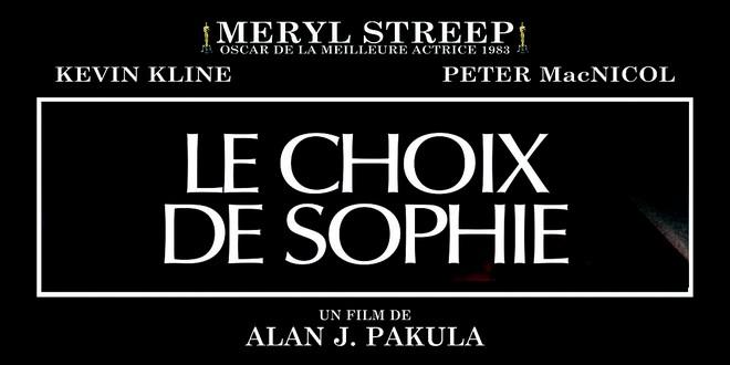 Choix Sophie film Meryl Streep