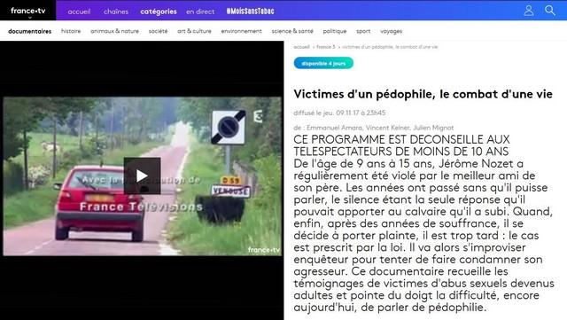 France 3 Victimes pédophile combat une vie