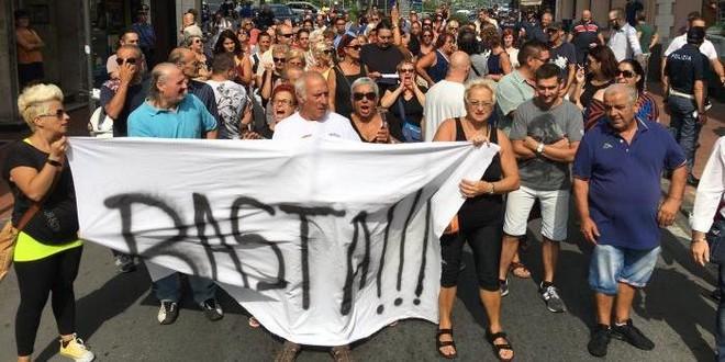 Vintimille manifestation anti-clandestins 11 novembre 2017