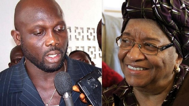 George Weah Ellen Johnson Sirleaf présidents Libéria