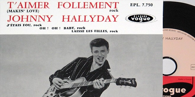 Johnny Hallyday aimer follement premier disque