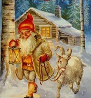 Père Noël scandinave bouc