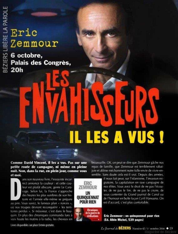 Les Envahisseurs Éric Zemmour
