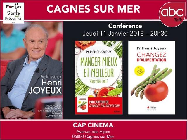 Henri Joyeux conférence Cagnes-sur-Mer 11 janvier 2018