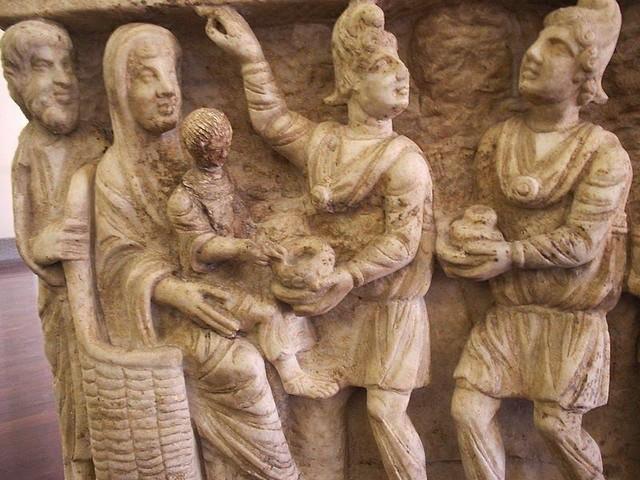 Mages ancienne représentation sarcophage 3e siècle Musée Vatican