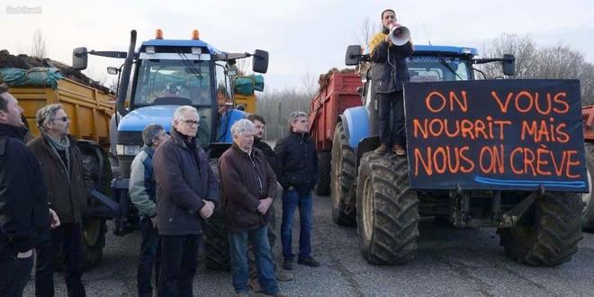 Agriculteurs colère Agen 23 janvier 2018