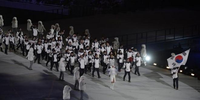 JO Pyeongchang cérémonie ouverture équipe Corée