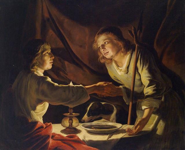 Matthias Stom Esau vend droit aînesse Jacob plat lentilles