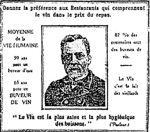 Pasteur vin boisson hygiénique