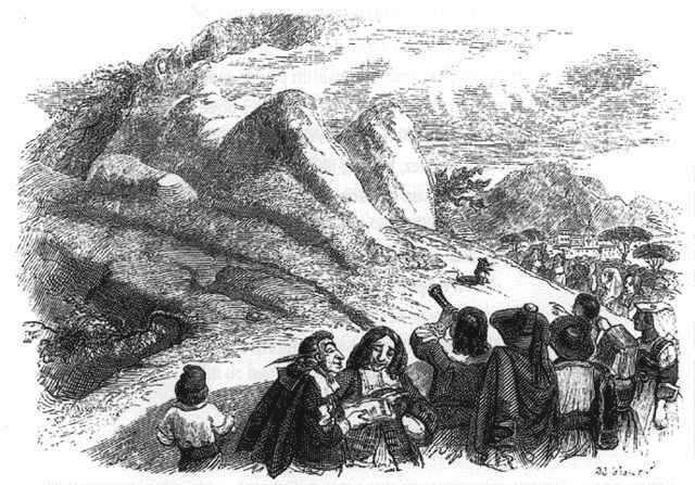 Grandville Montagne accouche souris La Fontaine