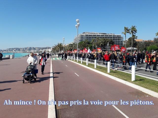 Grève fonction publique Nice 22 mars 2018