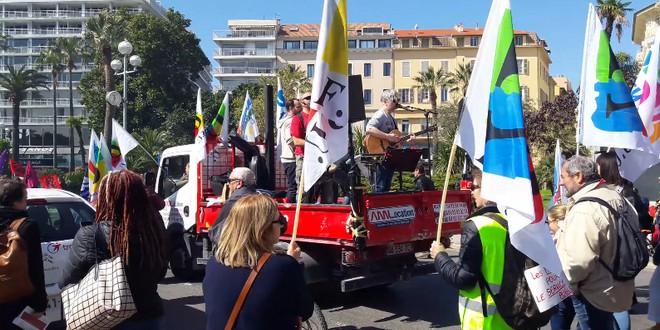 Gréve fonction publique Nice 22 mars 2018