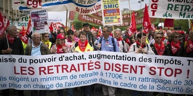 Manifestation retraites 15 mars 2018