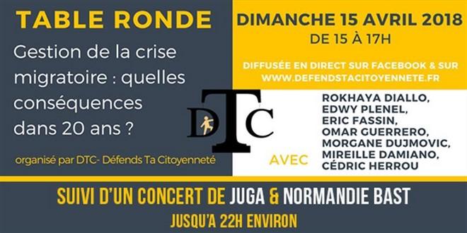 Défends Ta Citoyenneté Cédric Herrou table ronde 15 avril 2018
