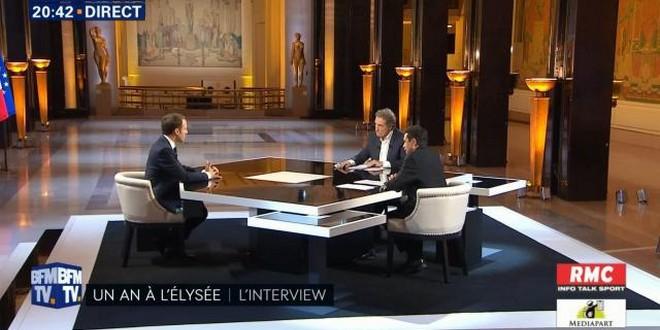 Emmanuel Macron Jean-Jacques Bourdin Edwy Plenel