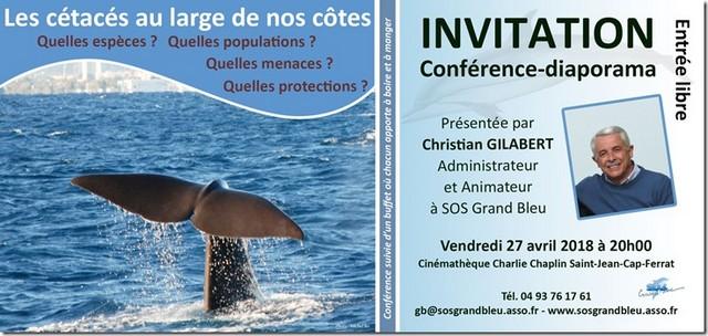 SOS Grand Bleu Conférence 27 avril 2018