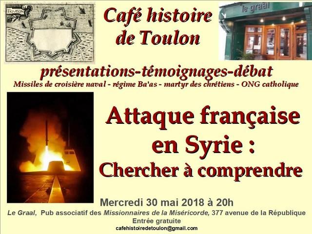 Café Toulon attaque francaise Syrie 30 mai 2018