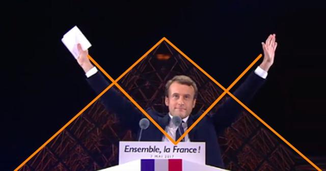 Macron Louvre symbole maçonnique